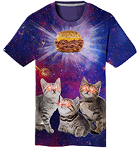 """Cats in Space""  Tee Thumbnail"