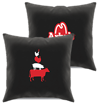 Arby's Meat Stack Pillow, Black Thumbnail