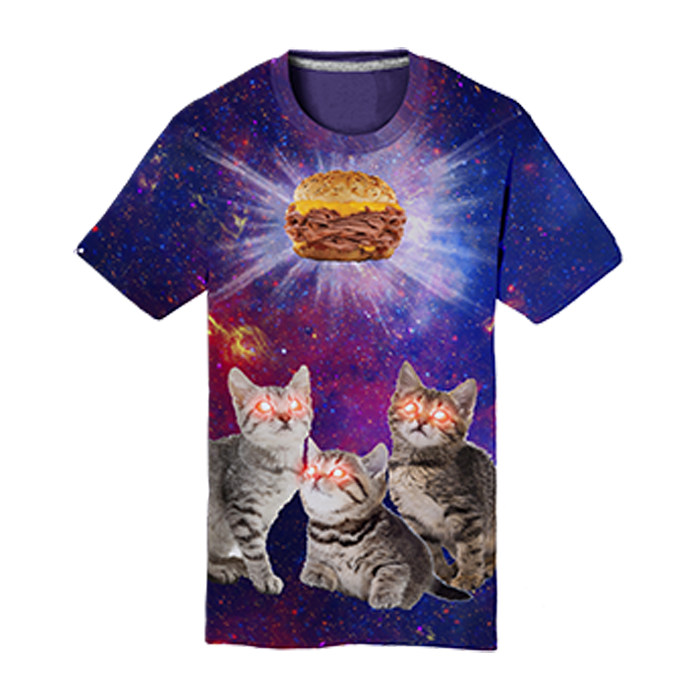 """Cats in Space""  Tee"